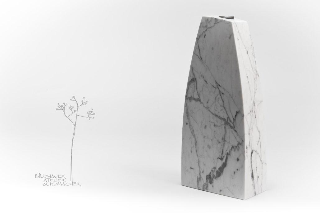 Blumenvase Carrara Marmor