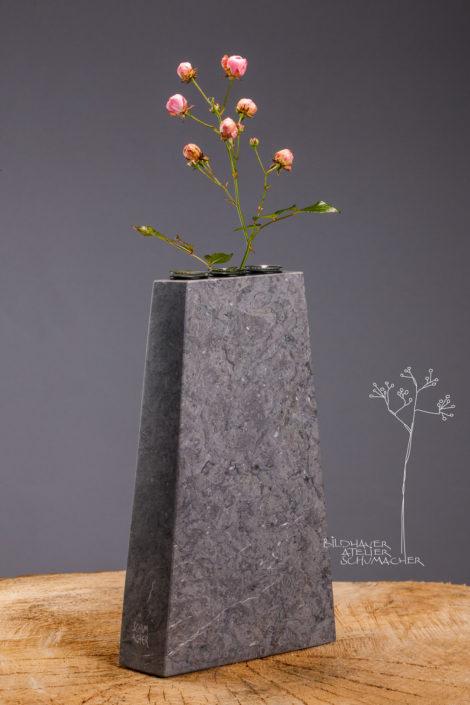 Blumenvase St.Michel Kalkstein 3er Reagenzgläser