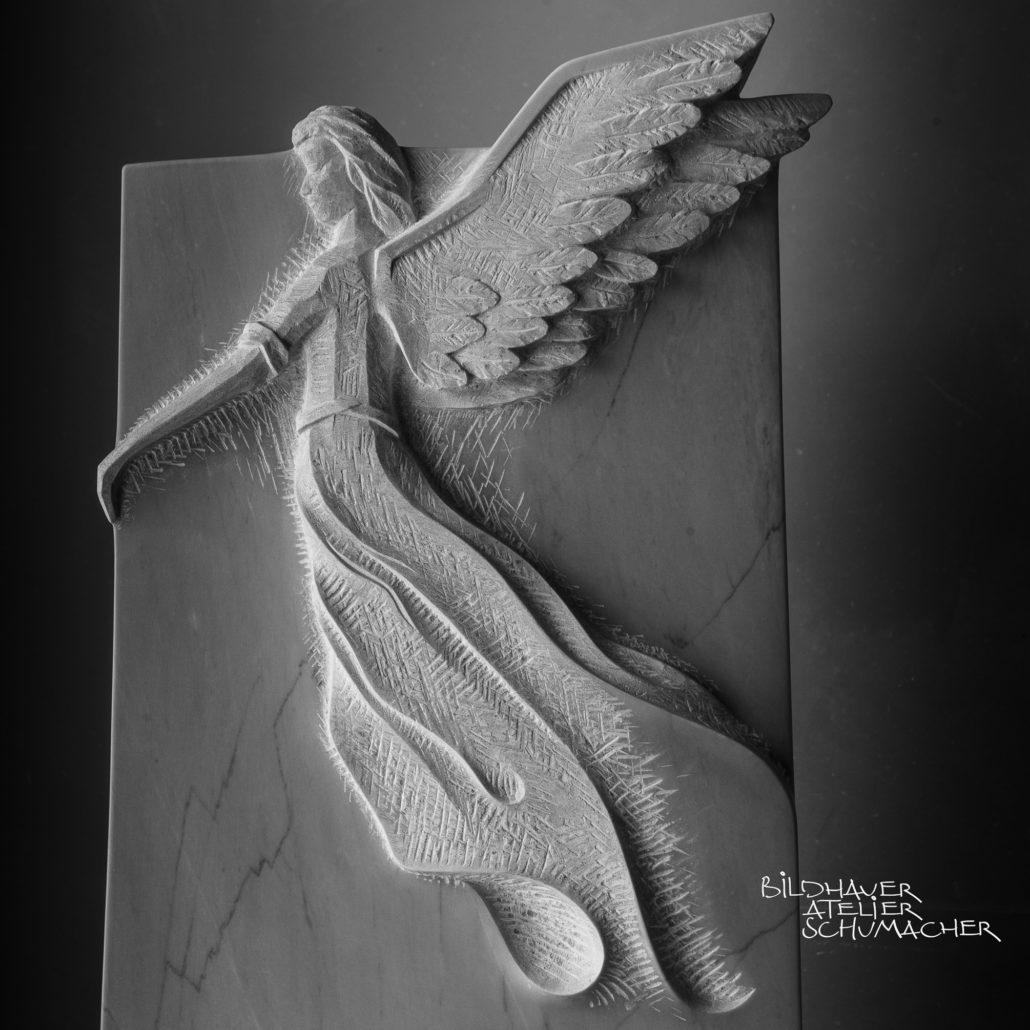 Engel relief Bardiglio Marmor