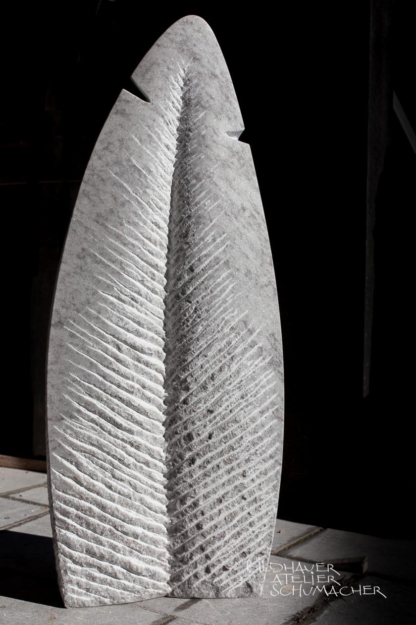 Grabmal Blatt Cristallina Marmor