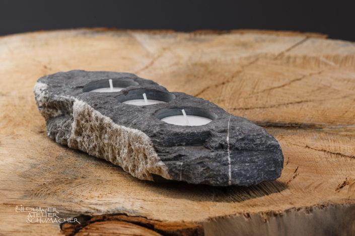Kerzenhalter 3 er Engelberger AA Flusskiesel