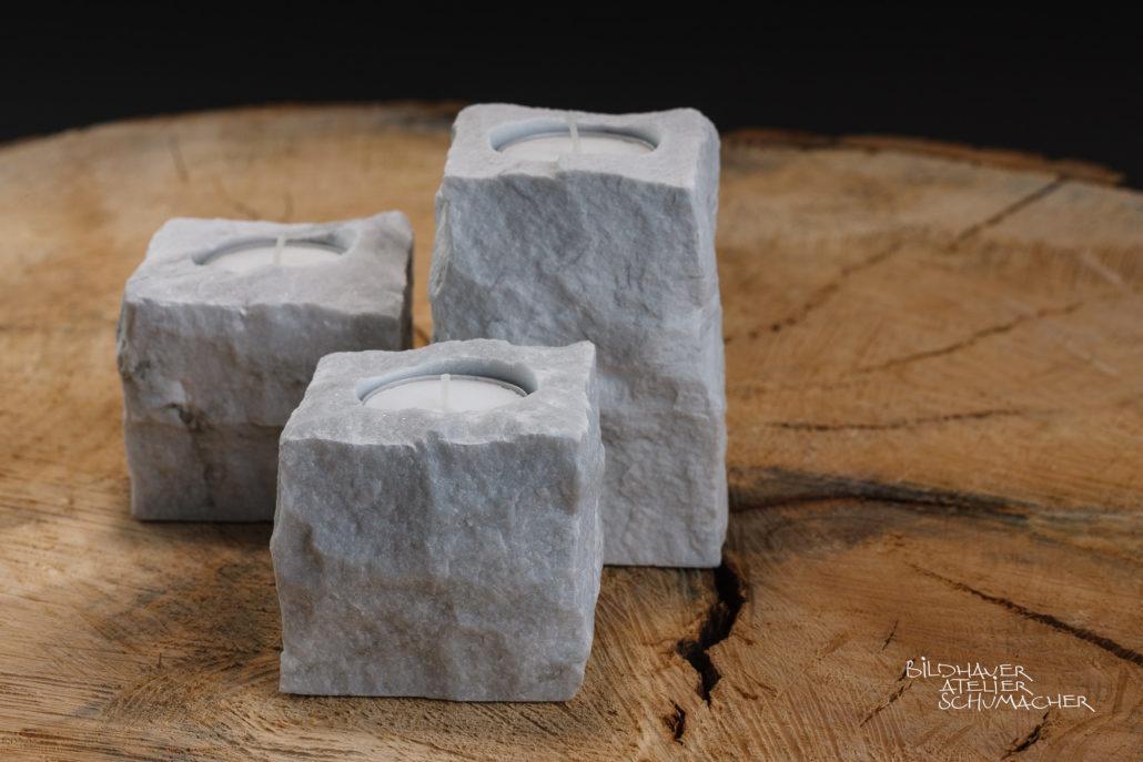 Kerzenhalter Carrara Marmor