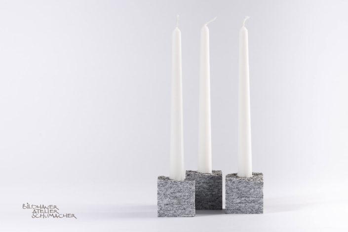 Kerzenhalter Calanca Gneiss gefräst