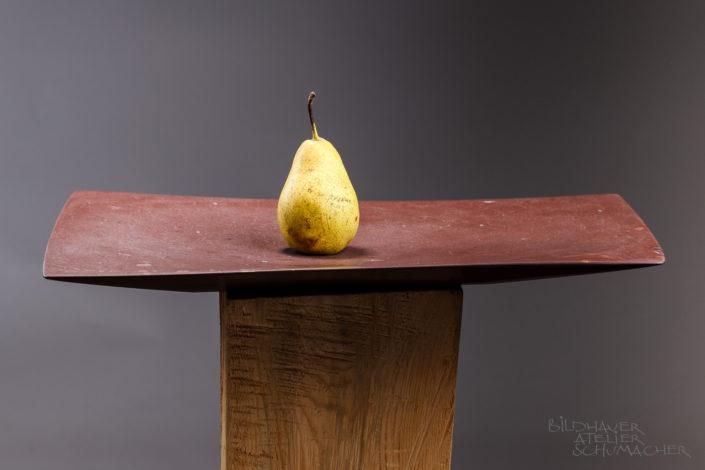 Früchteschale aus Melsener Schiefer aus der Schweiz