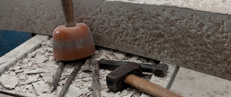 Werkzeug Arbeiten am Stein