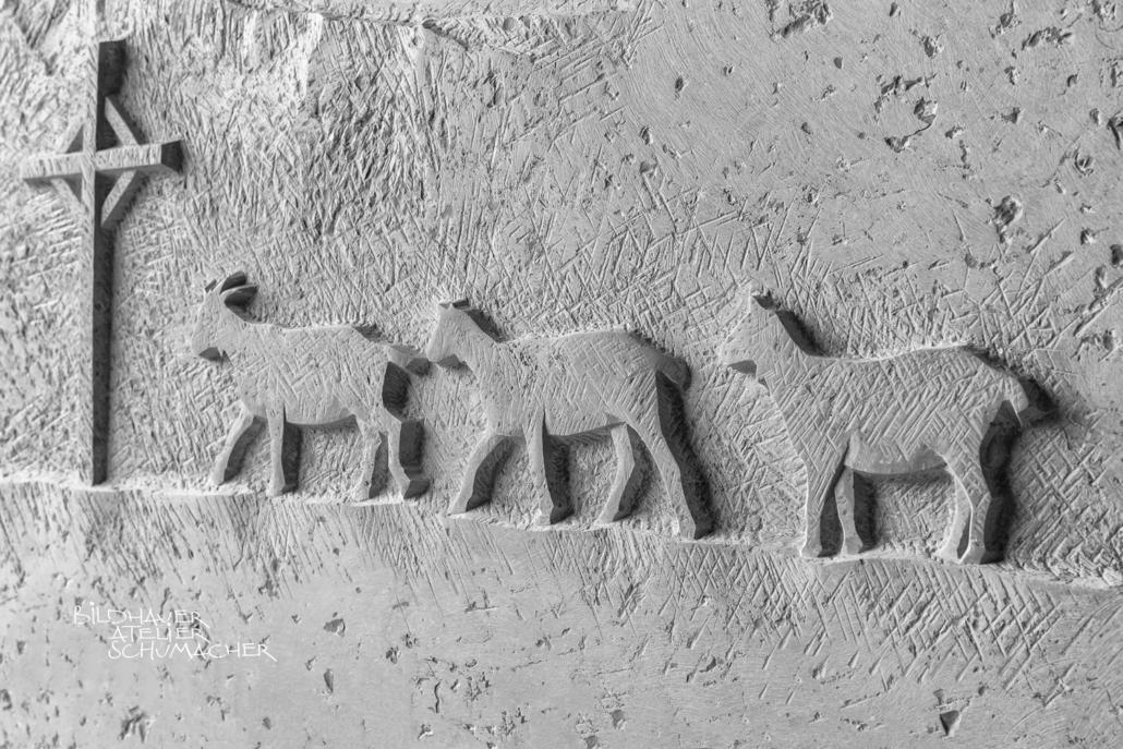 Geissen Relief, Comblanchien Kalkstein