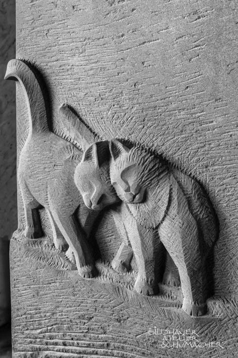 Katzen Relief, Roter Mainsandstein