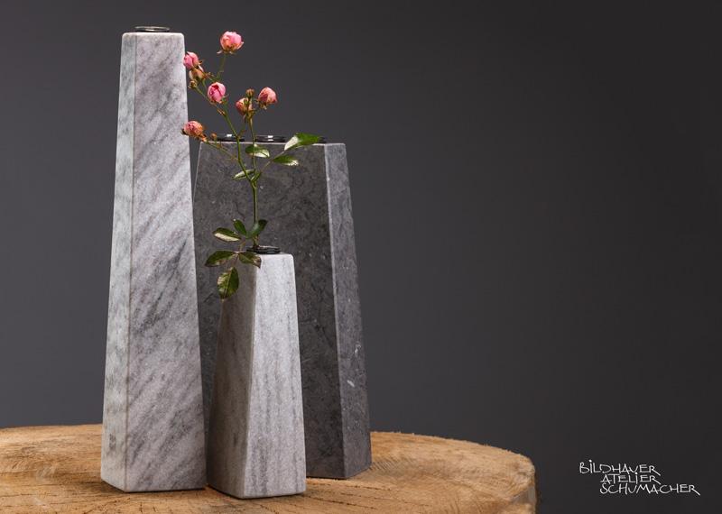 Blumenvasen Cristallina Marmor und St.MIchel