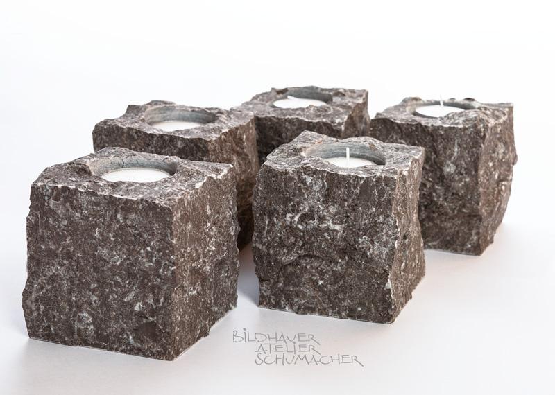 Kerzenhalter aus St.Michel Kalkstein