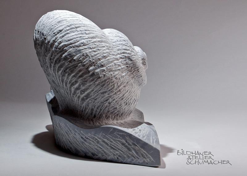 Schnecke Bardiglio Marmor
